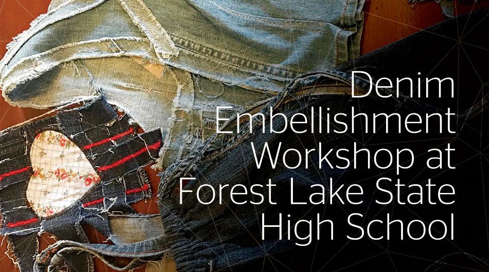 Denim Embellishment Workshop at Forest Lake State High School