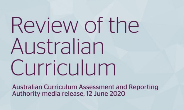 Review of the AustralianCurriculum: Australian Curriculum Assessment and Reporting Authority media release, 12 June 2020