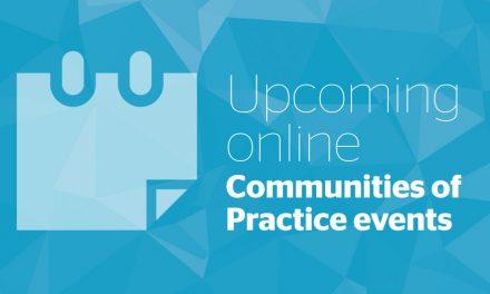 Upcoming online: Communities of Practice events